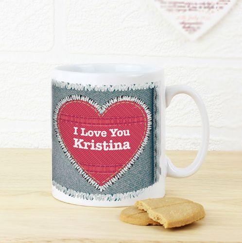 Personalised Denim Mug